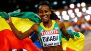 Genzebe Dibaba maakt favorietenrol waar op 1.500m