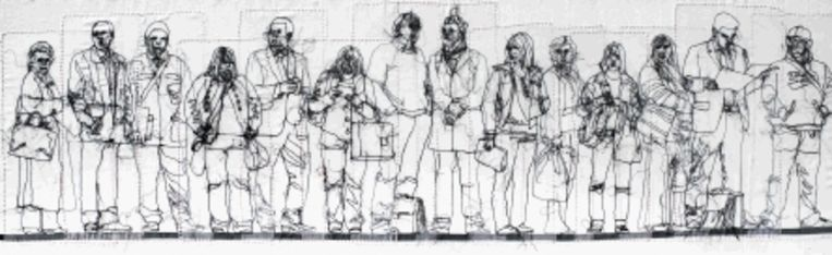 'Waiting for the 723 for Victoria', van Rosie James (Trouw) Beeld
