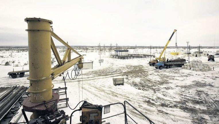 De helft van de Russische inkomsten komt uit de export van olie en gas. Beeld HH