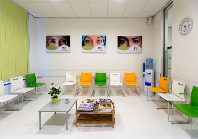 De wachtkamer in de Eindhovense abortuskliniek.