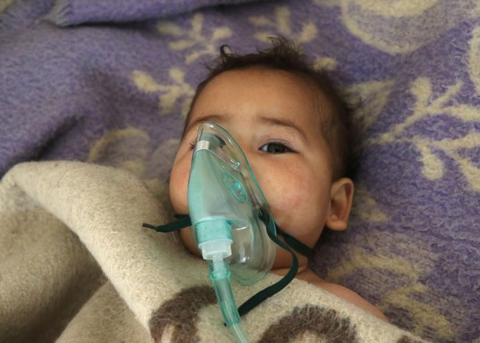 Onder de slachtoffers van de gifgasaanval waren veel kinderen.