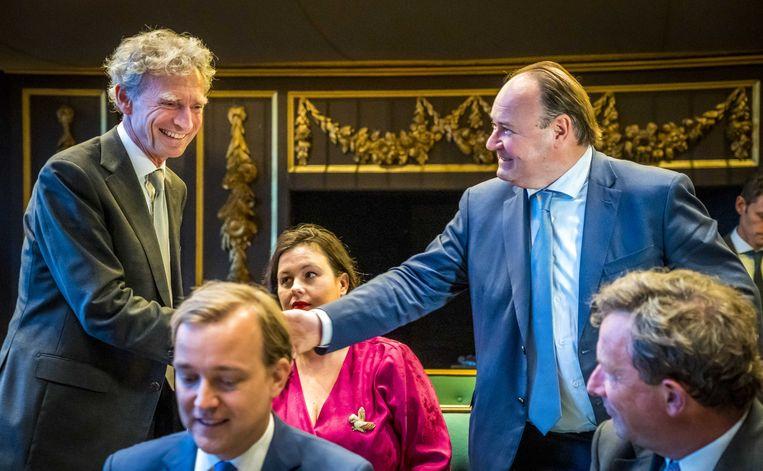 Henk Otten bij zijn beëdiging in de Eerste Kamer. Beeld ANP