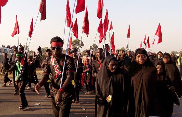 15 leden van de Islamitische Beweging van Nigeria zijn gisteren doodgeschoten tijdens een processie voor de sjiitische Asjoera-ceremonie. Archieffoto uit 2015.