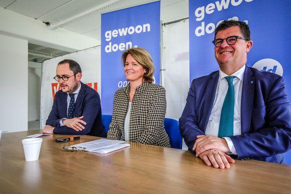 In maart stelden Bart Tommelein en Vincent Van Quickenborne Kathleen Verhelst voor als het wit konijn van Open Vld West-Vlaanderen.
