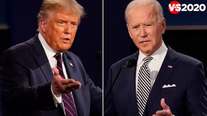 Donald Trump en Joe Biden