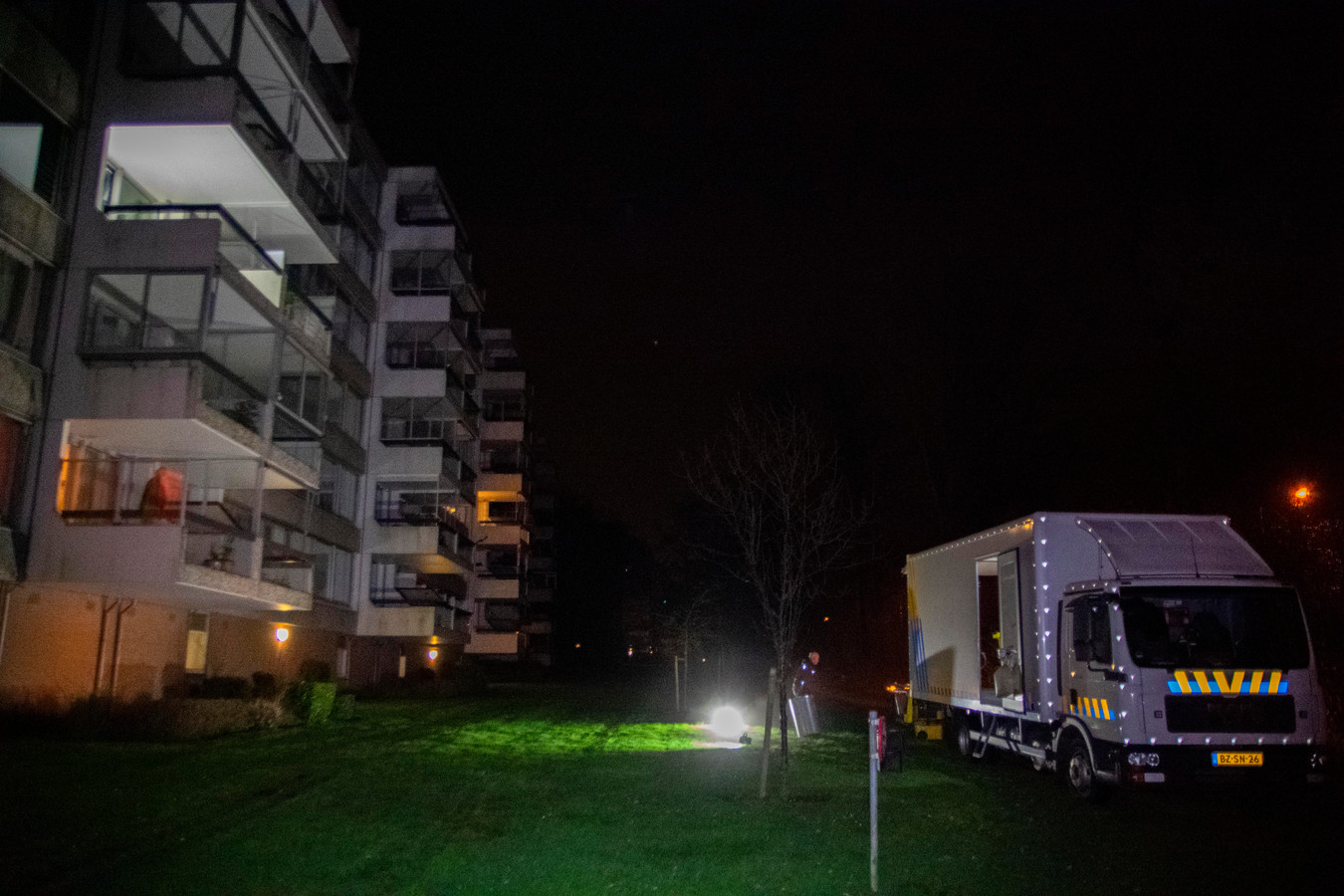 De flat aan de Beethovenlaan in Doorwerth.