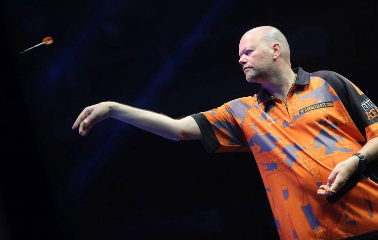 De darter uit Den Haag verloor bij de World Series of Darts in Amsterdam in de kwartfinale van Dave Chisnall. Beeld BSR Agency