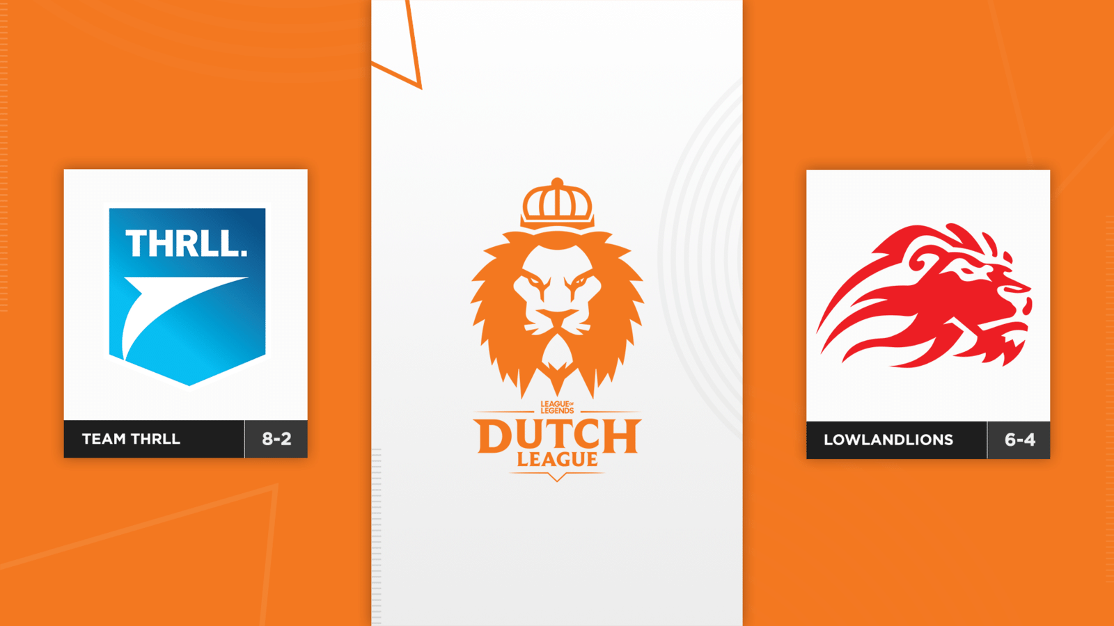 In de halve finale van de Dutch League treffen Team THRLL en LowLandLions elkaar.