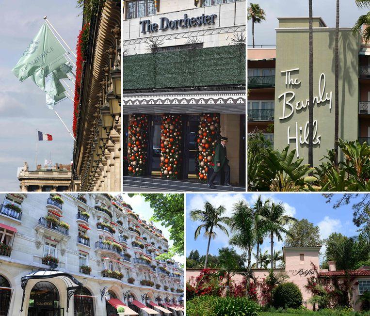 De sultan van Brunei is eigenaar van negen luxehotels die deel uitmaken van de Dorchester Collection, zoals Dorchester in Londen.