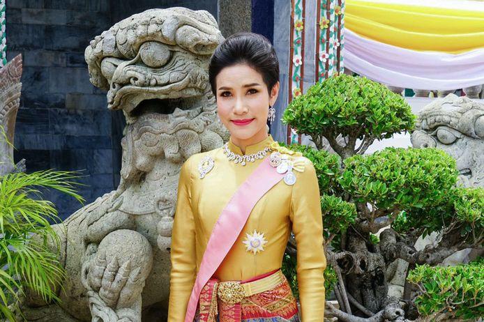 Op de foto: Sineenat, de officiële bijvrouw van de Thaise vorst.