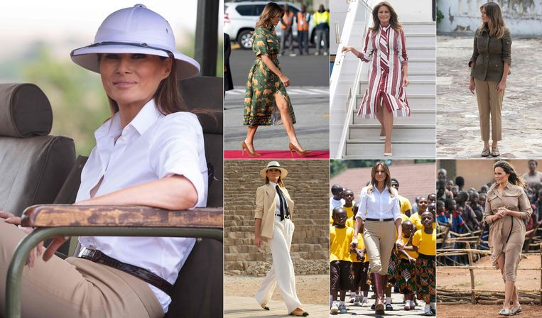 Melania Trump was vorige week op rondreis door Afrika.