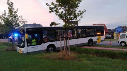 Lijnbus belandt in weide: bestuurder lichtgewond, passagiers met schrik vrij
