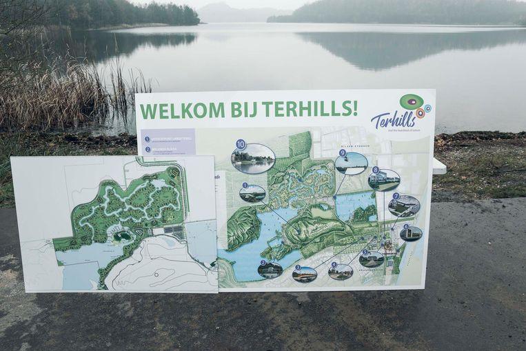 Een plattegrond van Terhills.