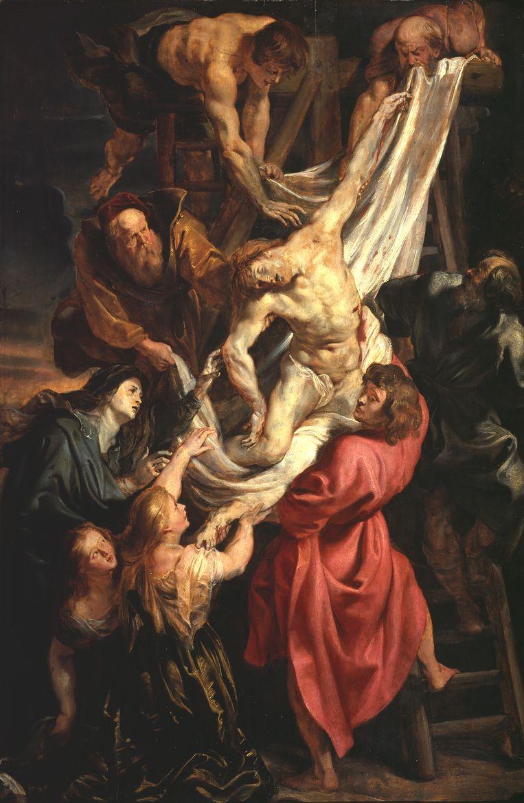 Rubens: De kruisafname, ca. 1611-1612, schets in olieverf. Beeld The Courtauld Gallery, Londen