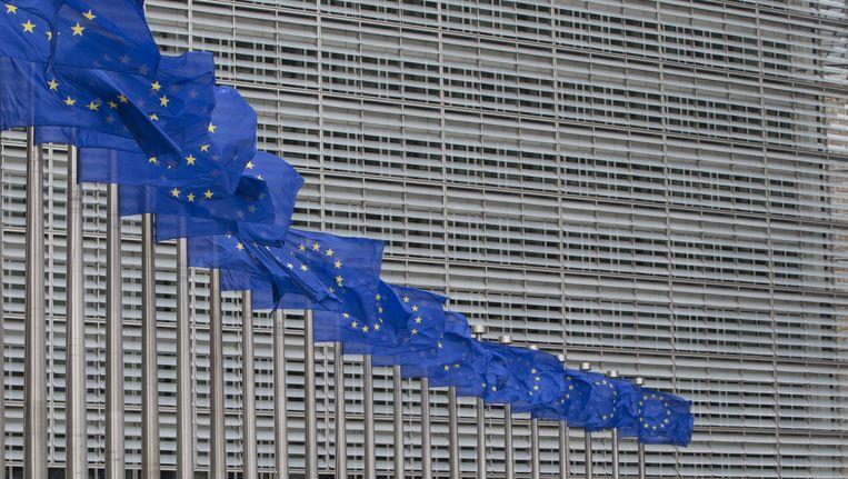 Het hoofdkantoor van de Europese Unie in Brussel. Beeld ap