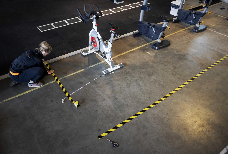 Sportschool Inspire2Move past zijn ruimte aan. Beeld ANP