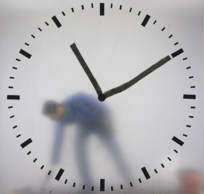 De schipholklok 'Real Time' van Maarten Baas.