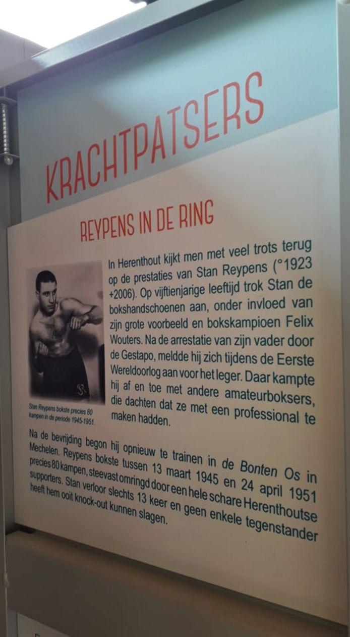 Bokser Stan Reypens mag misschien wel beschouwd worden als Herenthouts grootste sporter aller tijden.