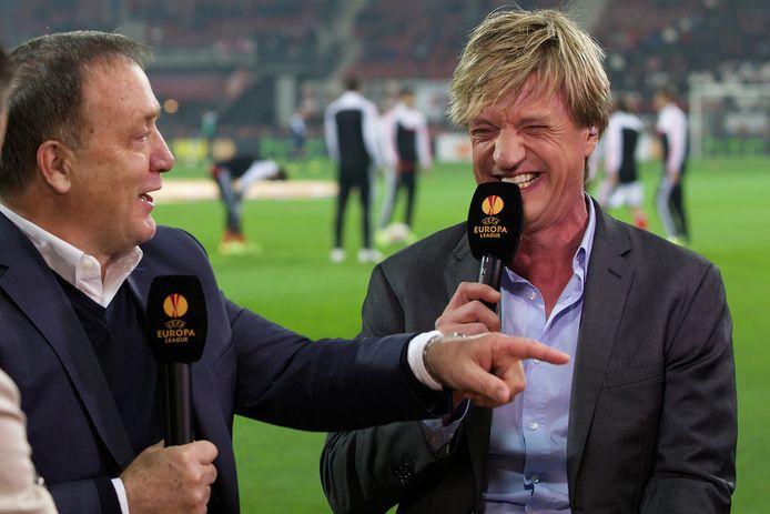 Dick Advocaat en Wim Kieft verzorgen vanavond de analyse bij hun oude club PSV.
