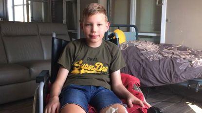 Danté (11) hele zomervakantie in rolstoel na val uit skilift