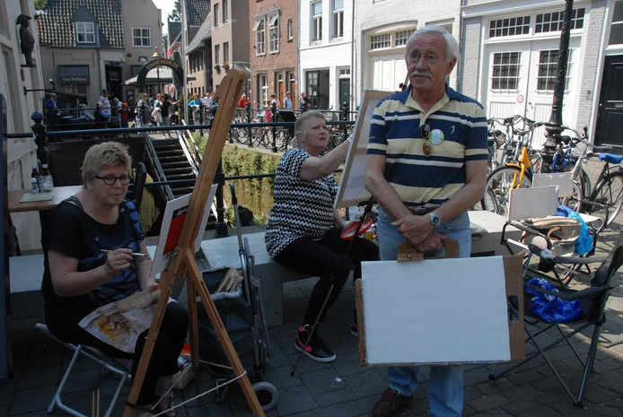 Medeorganisator Wil van der Rijt is van plan om straks ook het penseel ter hand te nemen