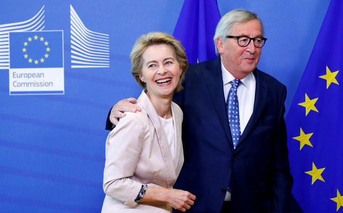 Ursula von der Leyen en Jean-Claude Juncker.