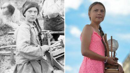 """""""Greta Thunberg is een tijdreizigster"""": 120 jaar oude foto leidt tot ophef op sociale media"""