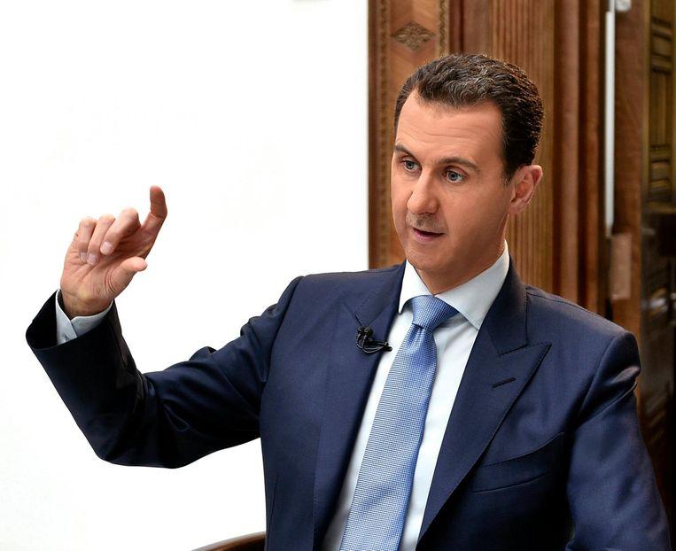 De Syrische president Bashar al Assad. Zijn familie regeert al 40 jaar met bloedige hand. Beeld epa