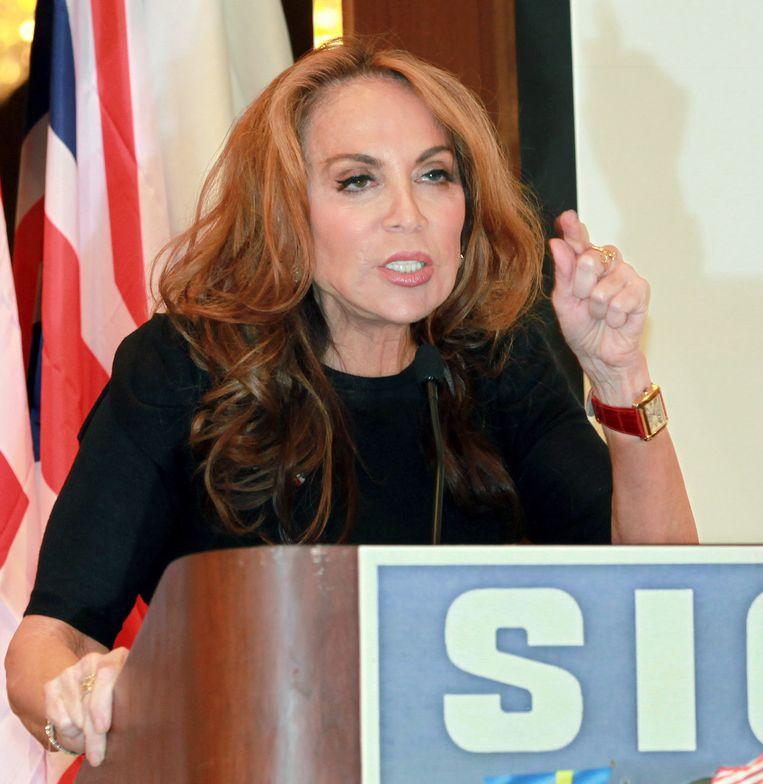 Pamela Geller staat ook op de lijst van islamofobe organisaties en individuen van Cair. Blogger en activiste Geller organiseerde in 2012 een conferentie getiteld 'Stop de islamisering van Amerika', tevens de naam van een organisatie die ze in 2010 mede oprichtte. Beeld AP