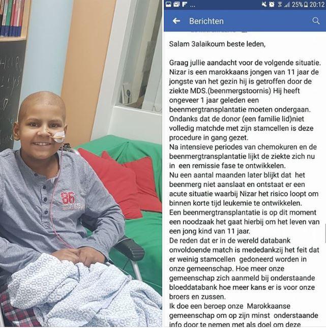 De oproep van Mirihane op Facebook.