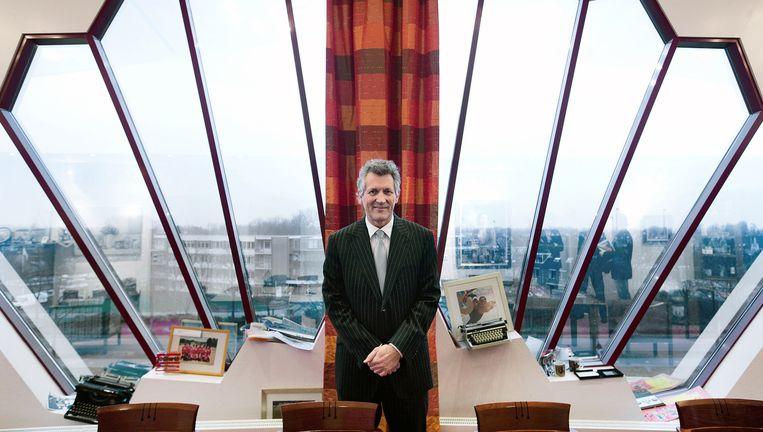 Dirk Scheringa als baas van de DSB-bank in het hoofdkantoor in Wognum. Beeld Guus Dubbelman