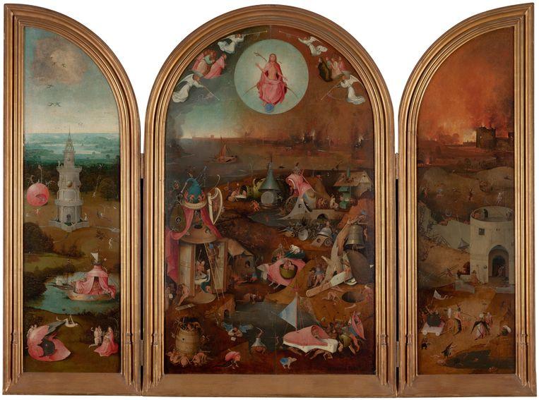 Jheronimus Bosch, Het Laatste Oordeel, ca. 1505-15, Olieverf op eiken. Beeld Groeningemuseum Brugge