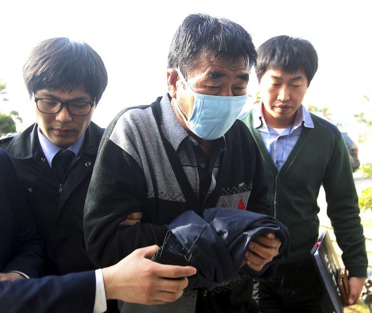 Kapitein Lee Joon-seok een week na de ramp.
