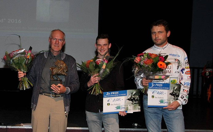 De winnaars Cor Verberk, Robin Fick en David Wijnhoven (vlnr)