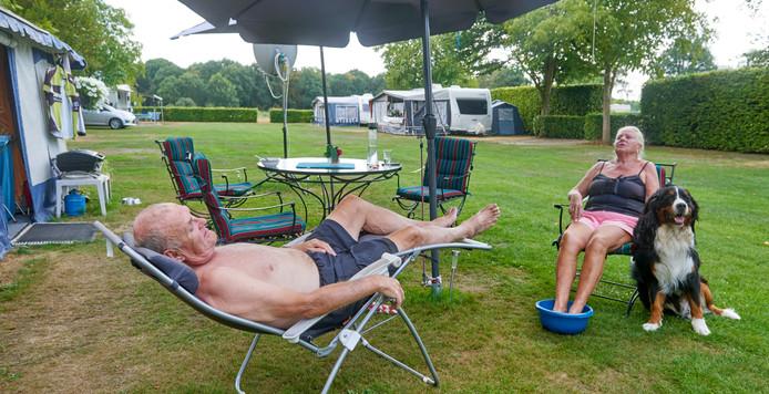 Zomers tafereel op mini-camping De Lindenhoeve in Nistelrode.