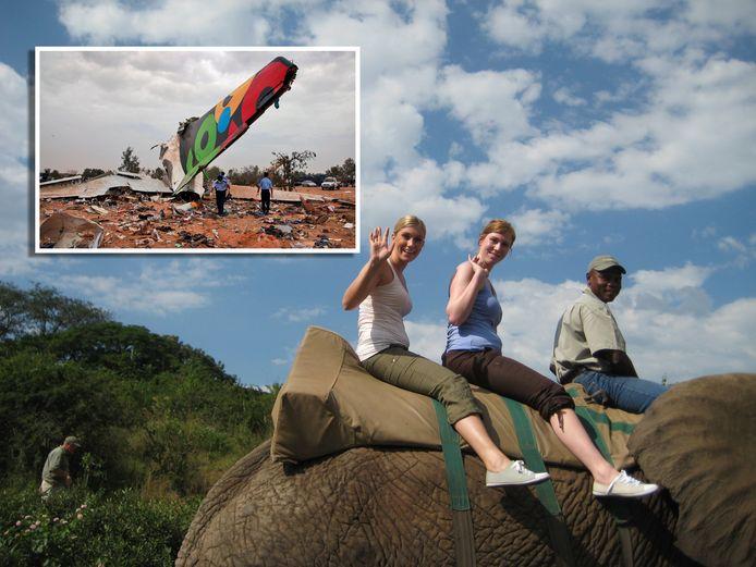 Joyce en Julia. Beeld afkomstig van de geheugenkaart van Julia Rotsteeg die een groepsreis naar Zuid-Afrika maakte en op de terugweg omkwam bij de vliegramp in Tripoli.
