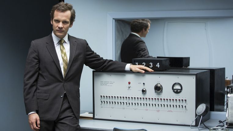 Peter Sarsgaard als Stanley Milgram. Beeld