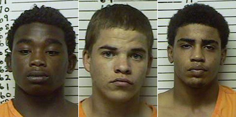 De daders van de fatale schietpartij, met rechts de tot levenslang veroordeelde Chancey Luna.