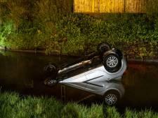 Auto te water in Oosterhout, bestuurder naar ziekenhuis