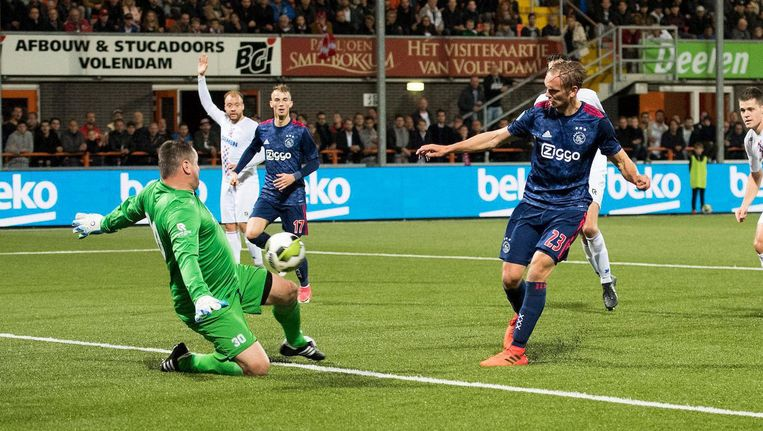 Ajax bereikte de achtste finale nadat zij woensdag Tweede Divisionist ASV De Dijk in het bekerduel met 1-4 van het veld speelden. Beeld Proshots
