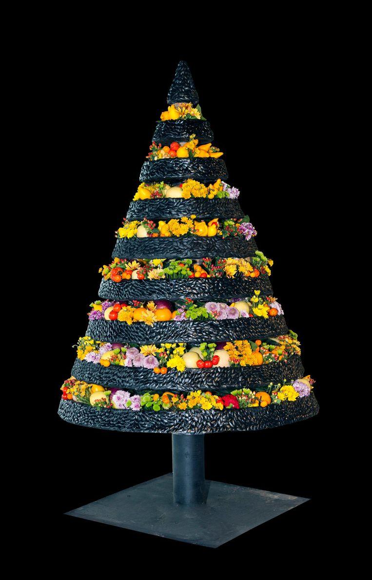 Een kerstboom van de hand van Stef Adriaenssens.