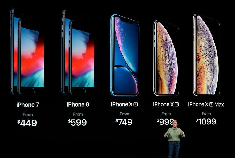 De evolutie van de iPhone sinds 2015.