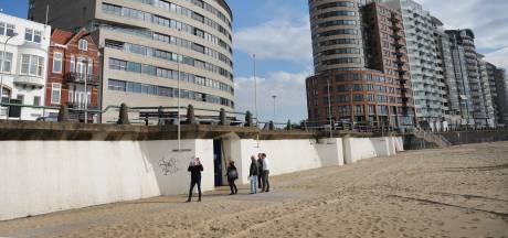 Boulevard Vlissingen opengebroken vanwege lekkend 'dak' van zandpaviljoen