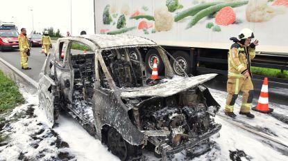 Auto vat vuur: Franse automobilist gaat op de loop