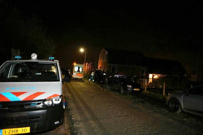 Hulpdiensten aan de Tolweg in Sprang-Capelle.