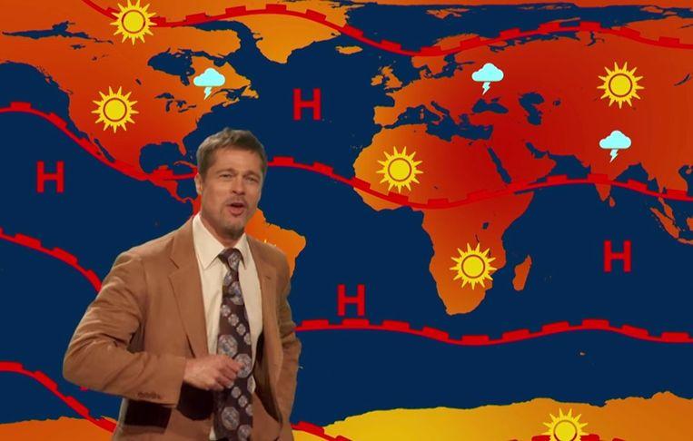 Brad Pitt maakt comeback als weerman.