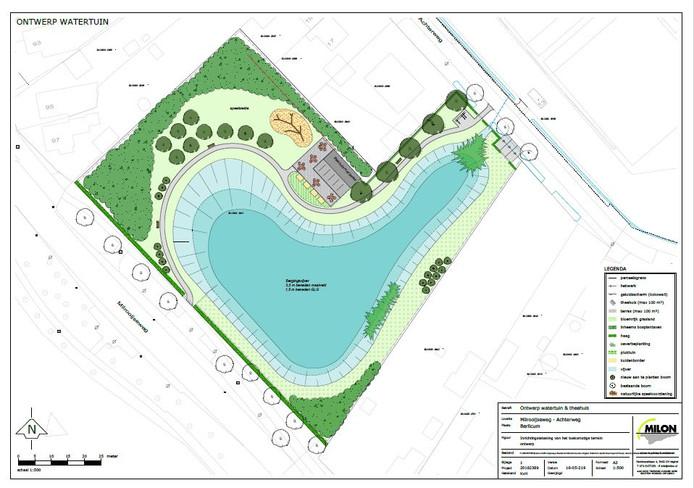 Het ontwerp voor de watertuin Aa-dal in Middelrode.