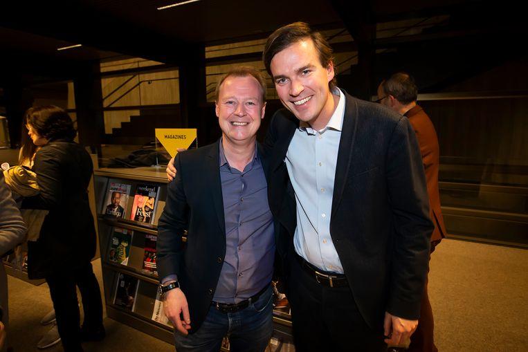 Christophe Peeters en kersvers burgemeester Mathias De Clercq.