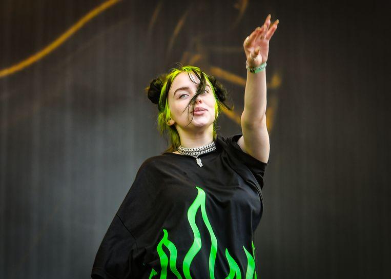 Billie Eilish stond om 15u op de Main Stage van Pukkelpop.