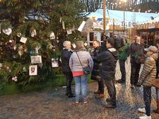 Karin Bloemen zet met Joris Bossche kerstboom in het licht